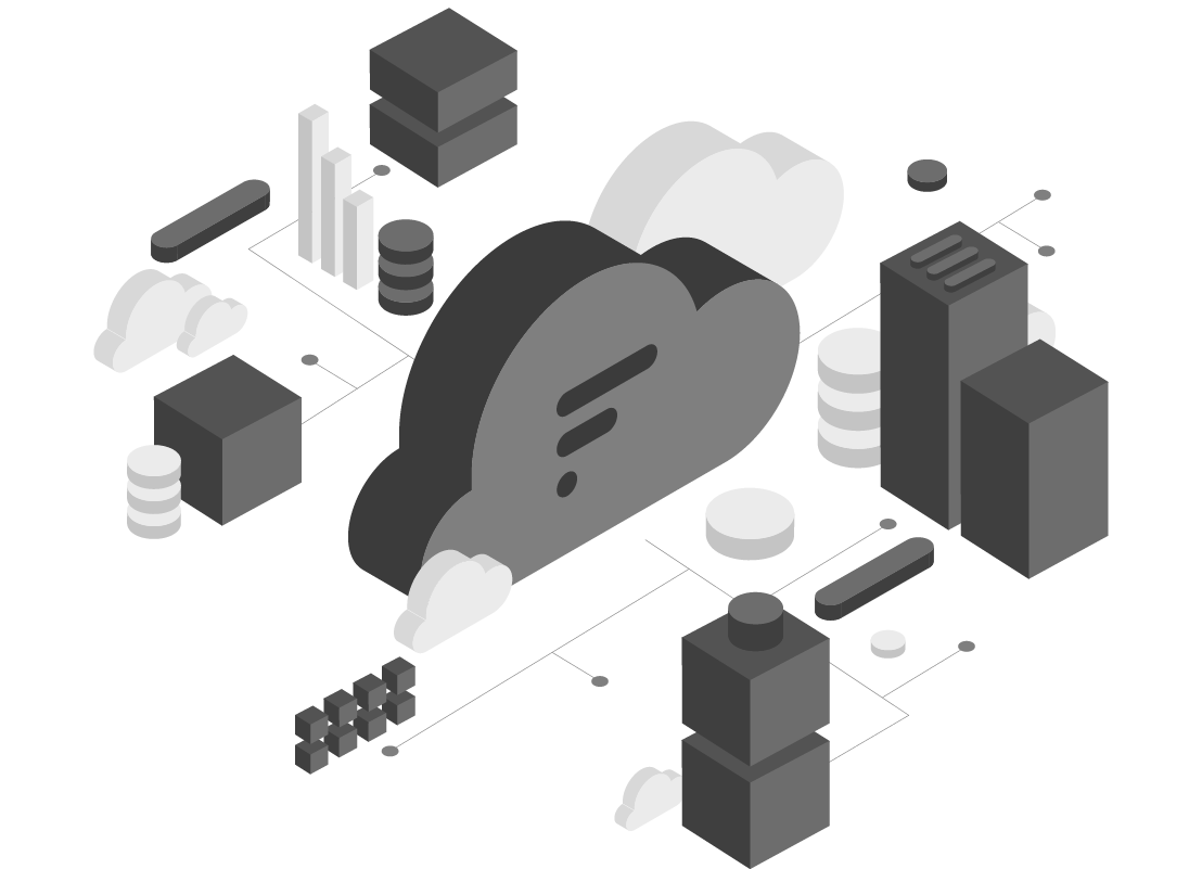 Generic cloud computing diagram