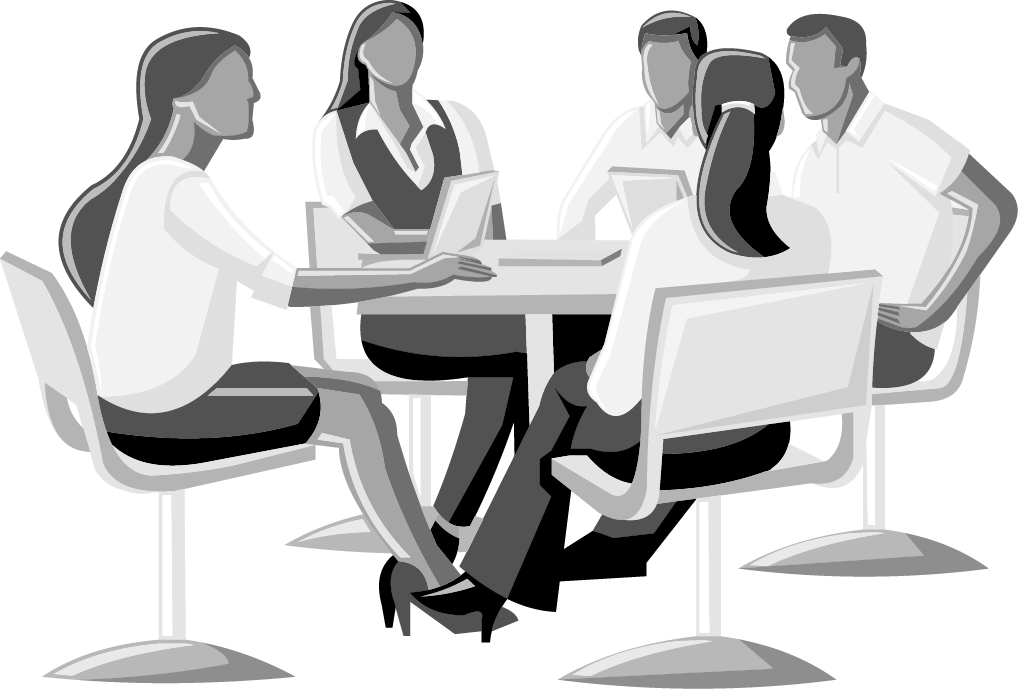 Illustration of workers meeting in an office